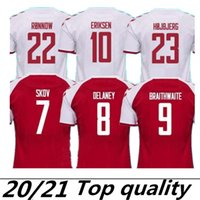 2021 2022 Dinamarca Jersey 21 22 Dinamarca Camisetas Eriksen Hojbjerg Yussuf Christensen Home Away Top Thai National Football Camisa Goleiro Maillot de pé