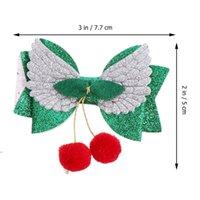 9 adet Noel Saç Klipleri Glitter Yay Melek Kanat Sequins Timsah Noel Baba Doğum Günü Hediyesi Için Tırnakları DWD8220