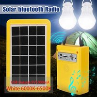 Solar Lamps Power Generator Kit With 3 LED Bulb Light Camping For Home Emergency Panel Charger Battery