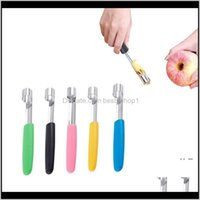 Kitchen Dining Bar Home Garden Drop Delivery 2021 Corer Stainless Steel Pear Fruit Vegetable Core Seed Remover Cutter Kitchen Gadgets Tools E