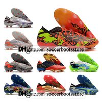 GIFT BAG Kids Low Ankle Football Boots Nemeziz 19.1 FG Firm Ground Cleats Mens Outdoor Messi 19 Men Soccer Shoes