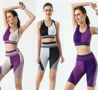 Designer Yoga Sportswear Trainingsanzüge Fitness 2 STÜCKE Shorts Crop Top Leggings Outdoor Outfits Sport BH Indoor-Anzug Kleidung Anpassbare Yogaworld Richten Sie Pant Casual