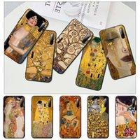 Kiss By Gustav Klimt Art Design Black Matte Mobile Phone Cover For P9 P10 P20 P30 P40 Lite Pro P Smart 2019 Case