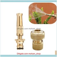 Equipments Supplies Patio, Lawn Home & Gardenfast Brass Spray Nozzle With 1 2Inch 3 4Inch Flow Car Wash Garden Watering Hose End Connector W