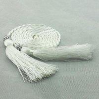 Belts 2021 Women Girls Folk-Custom Tassel Braided Belt Decorated Waist Chain For Ladies Dress Pasek Damski