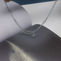 Necklaces 925 Sterling Silver Mutil-layer Star Necklace Handmade Vintage Fashion Thick Chains Hip Hop Jewelry for Women S-n563