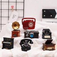 Decorative Objects & Figurines Resin Mini Simulation Toy Retro Phone Camera Typewriter Miniature Doll House Decoration Maison Home Decor