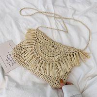 HBP não-marca pequena palha feminina tecida, saco de sela elegante, jitter, fogo super, satchel, verão tiktok. Sport.001.