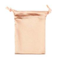 Satin Drawstring Bags Silk Cloth Jewelry Wigs Cosmetic Packaging Eye Mask Pouches Sachet Ribbon Bag 16x12cm CCF6857