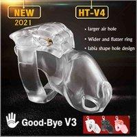 2021 New Male Chastity Device Cock Cage Penis Ring Ht-v4 Set Keuschheitsgurtel Bondage Belt Fetish Adult Lock Sex Toys for