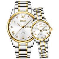 Designer Luxury Brand relógios Casal es Fashion Lover's Simples Presentes Homens Mulheres Relógio De Aço Inoxidável Par