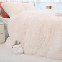 Blankets Chic Shaggy Throw Blanket Soft Plush Bedspread On The Bed Warm Fluffy Faux Fur Solid Color For Beds Sofa