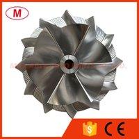 TD04HL 45.00 / 64.89mm 6 + 6 블레이드 성능 터보 차저 터보 빌렛 압축기 휠 / 알루미늄 2618 / 카트리지 용 밀링 휠 / Chra / Core