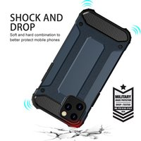 Super Anti-shock Hybrid Armor Cases For iPhone 7 8 Plus XS XR XSMAX 11 12 Pro Max LG Motorola Series TPU PC 2 in 1 CellPhone Case Cover