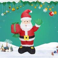 크리스마스 장식 1.35M 풍선 산타 클로스 LED 조명 장식품 Navidad 2021 년 마당 잔디 실내 야외