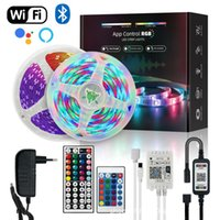 Led Strip Lights 49.2ft 15M 5050 RGB 270 LEDs Color Changing Lights Strip for Christmas Halloween Bedroom Home Decoration with App Wi-fi Remote Control 12V Power Supply