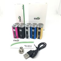 Eleaf istick Mini 10W Battery Starter Kits Variable Voltage Vape Mod with USB Cable eGo Connector adapter 510 Thread Vaporizer Pen 1050mAh 5 colors