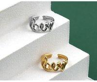 Liebesringe für Frauen, Ring, Goldliebeswort Silberring