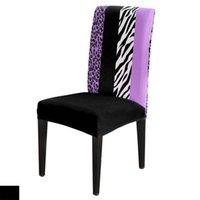 Tierdruck Zebra Stripes Leopard Spots Stuhlabdeckungen Hochzeits-Party-Dekor Spandex-elastischer Druck