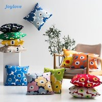 Poppy Sun Flower Pillowcase And Pillow With Stuffing Square Ins Bedside Sofa Backrest Cushion Cushion Decorative