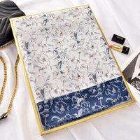 Yunnan lijiang célèbre groupe ethnique printemps estival d'été automne nouveau style chinois style coton bleu et blanc de style chinois et écharpe de lin tendance tout assortie sh