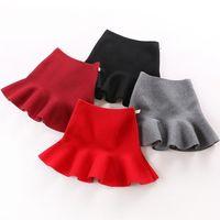Girl Knit Mermaid High Waist Chic Tutu Party Abbigliamento per bambini Scuola Girls Mini Gonne 2 4 5 6 7 8 9 10Y 210331