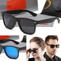 Высококачественные модные солнцезащитные очки Ray для мужчин Женщины Polarized Lens Pilot Brand Дизайнер Винтаж Спорт Солнцезащитные Очки с корпусом и коробкой