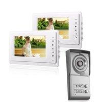 Units Apartment Video Door Phone Intercom System Doorbell Kit For 2 Apartments House 1 Camera Monitor Phones