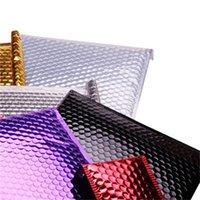 100 adet 15 * 13 cm Hediye Paketi Küçük Kaplama Altın Alüminize Folyo Metalik Kabarcık Mailer Kabarcıklar Yastıklı Zarflar Ambalaj Çantası 620 R2