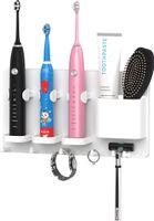 Elektrikli Diş Fırçası Tutucu Için Duş Asılı Jilet Diş Macunu Duvara Monte Askı Banyo Depolama Organizatör Diş Fırçası Standı