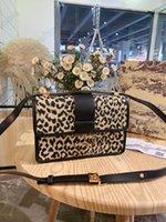30 Montaigne Leopard Grain Designer Bobby Hobo Saddle Torba Niebieski Kształtne Jacquard Medium Damskie Luxurys Skórzane torby na ramię Crossbody Box