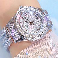 Relojes de pulsera Relojes 2021 Relojes para mujer Diseñadores de lujo Brand Sterling Silver Bling Diamonds Damas Vestido de muñeca Cuarzo para las mujeres