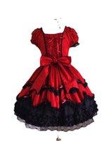 Lässige Kleider Mädchen Lolita Vintage mittelalterliche gotische Kleid Baumwolle Spitze Frauen Sommer Prinzessin Cosplay Kostüm Ballkleid Kurzer Party