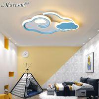 Tavan Işıkları Bulutlar Kız Odağı için LED Işık Anaokulu Çalışma Odası Yüzey Monte Lambaları Dekoratif Aydınlatma Armatürü AC90V-260 V