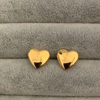3 ألوان الحب تصميم باهظ الأزياء أقراط الذهب والفضة روز الأذن الأذن ترصيع الفولاذ المقاوم للصدأ القرط للنساء هوب بالجملة