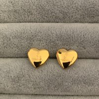 3 colori Love Extravagant Design Fashion Stud Earrings Gold Silver Rose Ear Borchie Orecchino in acciaio inox per donna Hoop all'ingrosso