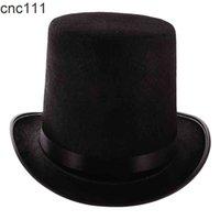 Czarny poliester Filk Satynowy Top Magik - Ringmaster Hat Party Kostium Akcesoria Jeden rozmiar pasuje do większości dorosłych