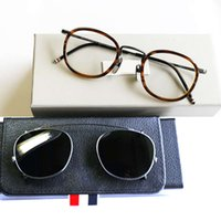 Eller York New Thom TB710 Boxgzl6 Brand Original Sunglass Clip OptiaCl Eye Women Browne Glasglas Män med Fram Lvucr