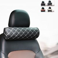 Seat Cushions 4 Color Car Pillow Head Rest Neck Safety Cushion Support Pad Memory Cotton Lumbar Waist Pillows