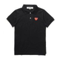 Yeni Moda Com Toptan En Kaliteli Siyah Kalp CDG Des Garcons Siyah Polo T-Shirt Boyut M Yapılan Japonya Junya Homme Plus