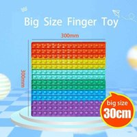 Fun Party Gift 30cm Soft Silicone Rainbow Stress Relief Toy Interactive Puzzle Game For Adults And Children