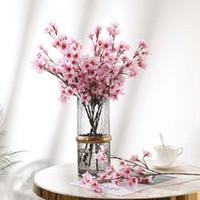 장식 꽃 화환 인공 꽃 지점 시뮬레이션 복숭아 꽃 꽃 장식 테이블 센터 피스 가짜 가정 결혼식 장식