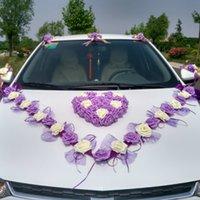 3 스타일 한국어 웨딩 시뮬레이션 장미 자동차 세트 장식 꽃 화환
