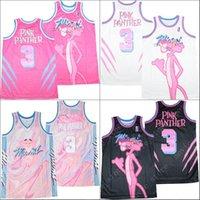 Miami Pink Panther Marmor 3 Basketball-Jersey genäht