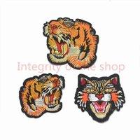 15 pcs cabeça tigre applique patches bordados ferro em motivos de renda de remendo decorados