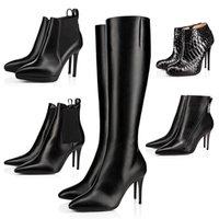 القيعان الأحمر مصمم الأحذية للنساء الكاحل نصف الركبة الفخذ عالية التمهيد الكتابة على الجدران الأسود البني الأزرق الداكن المرأة الشتاء الجوارب السيدات الفتيات