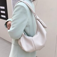 Premium Texture PU Мягкая кожаная сумка для рук Женщина 2021 All-Match Western Style underarm Ниша Один плечевый Пельмени Томас