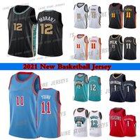 JA 12 مورانت الرجال كرة السلة الفانيلة صهيون 1 ويليامسون 11 يونغ كلية جيرسي 2021 الملابس في الهواء الطلق ارتداء جودة عالية