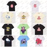 여름 만화 티 여성 큰 크기의 티셔츠 큰 맞는 맞는 만화 Tshirt 크기 꽃 패턴 소녀