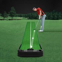 Golf Training Aids Indoor Auto Return Putting Green Mat Practice 3M Carpet Supplies